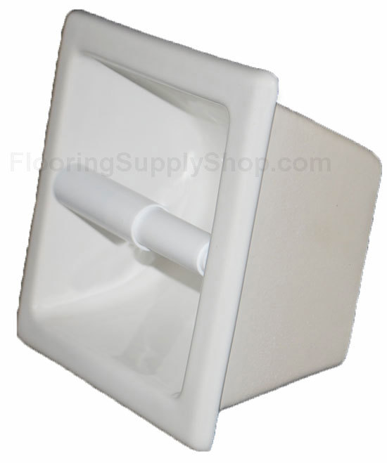 Recessed Tissue Holder Extended White Glossy By Hcp Industries At Flooringsupplyshop Com