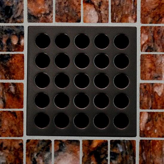 ESD-SB EBBE Satin Brass Finish   Square Tile Shower Drain FREE SHIPPING